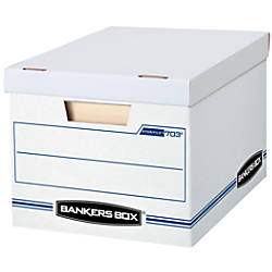 Bankers box with handles